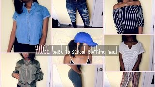 HUGE Back to School Clothing Haul 2016! (TRY ON)