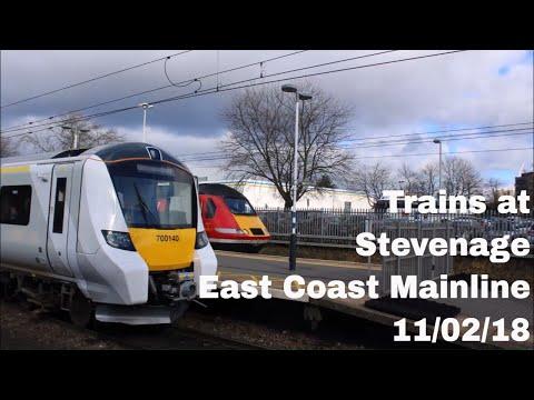Trains at Stevenage, ECML   11/02/18