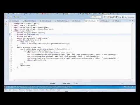 Genetic Algorithms Tutorial 04 - Class Scheduling JAVA Appli