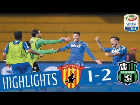Benevento - Sassuolo 1-2 - Highlights - Giornata 13 - Serie A TIM 2017/18