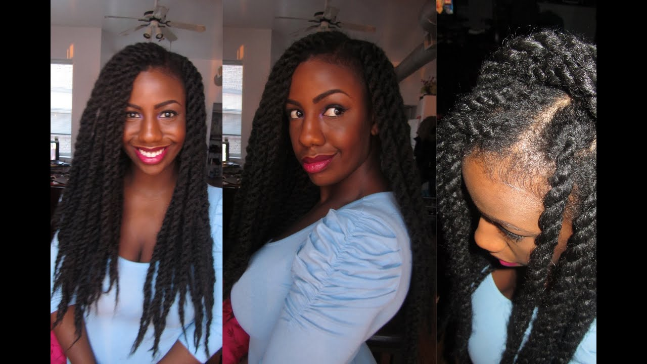 havana marley twists tutorial using the natural looking invisible