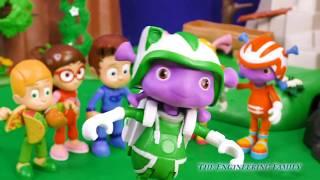 PJ MASKS Disney Floogals Character Romeo Steals the Tools Funny Slime Video