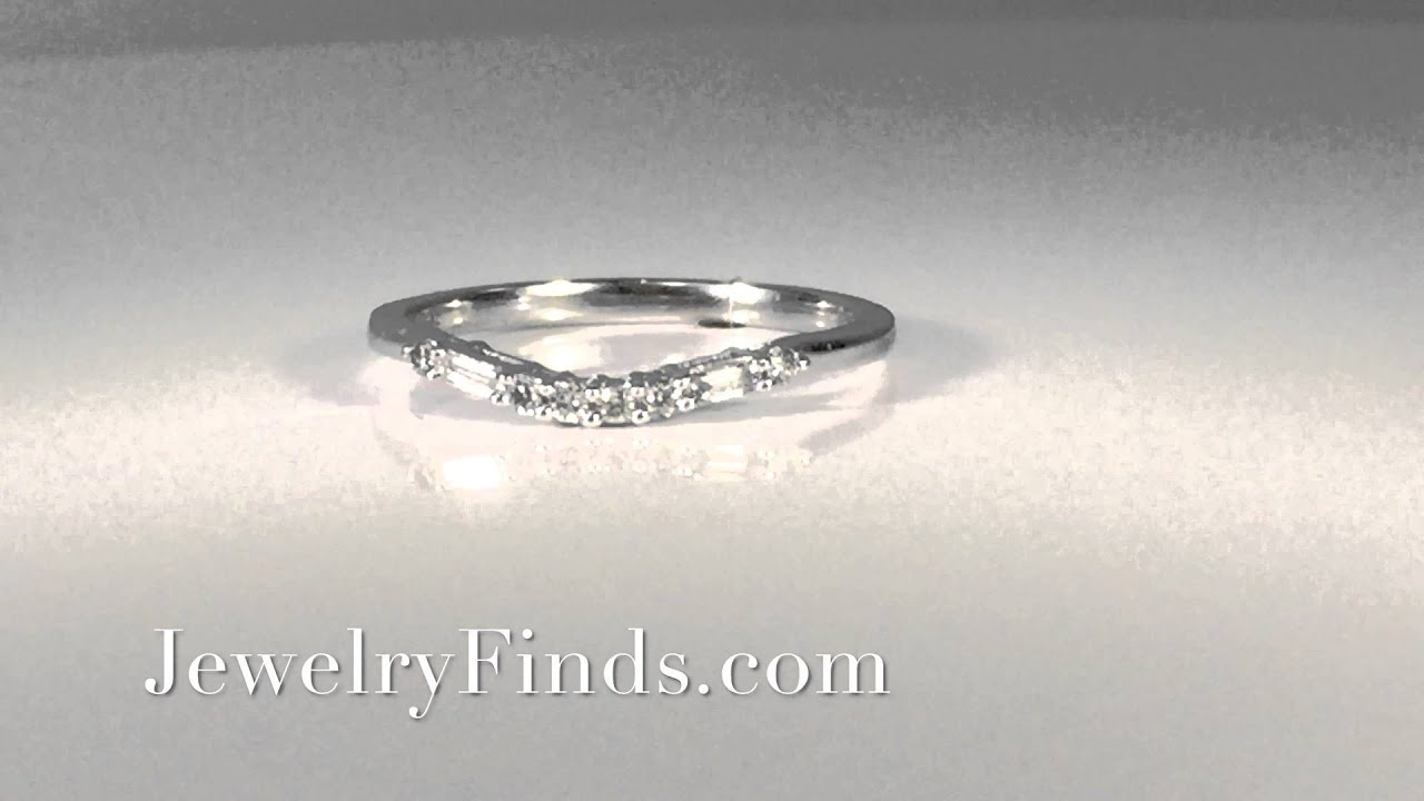band ring diamond rhodium sterling simulated dp baguette jewelry rings doubleaccent anniversary round wedding amazon plated bands com silver cz