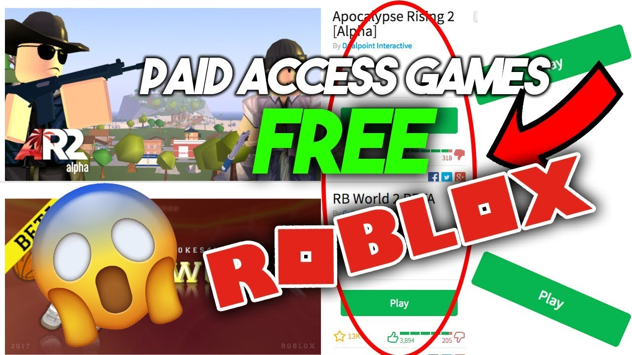 roblox how to get free games