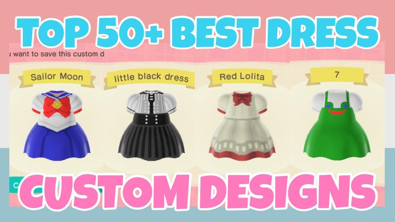Top 50+ Best Dress Custom Designs In Animal Crossing New ...