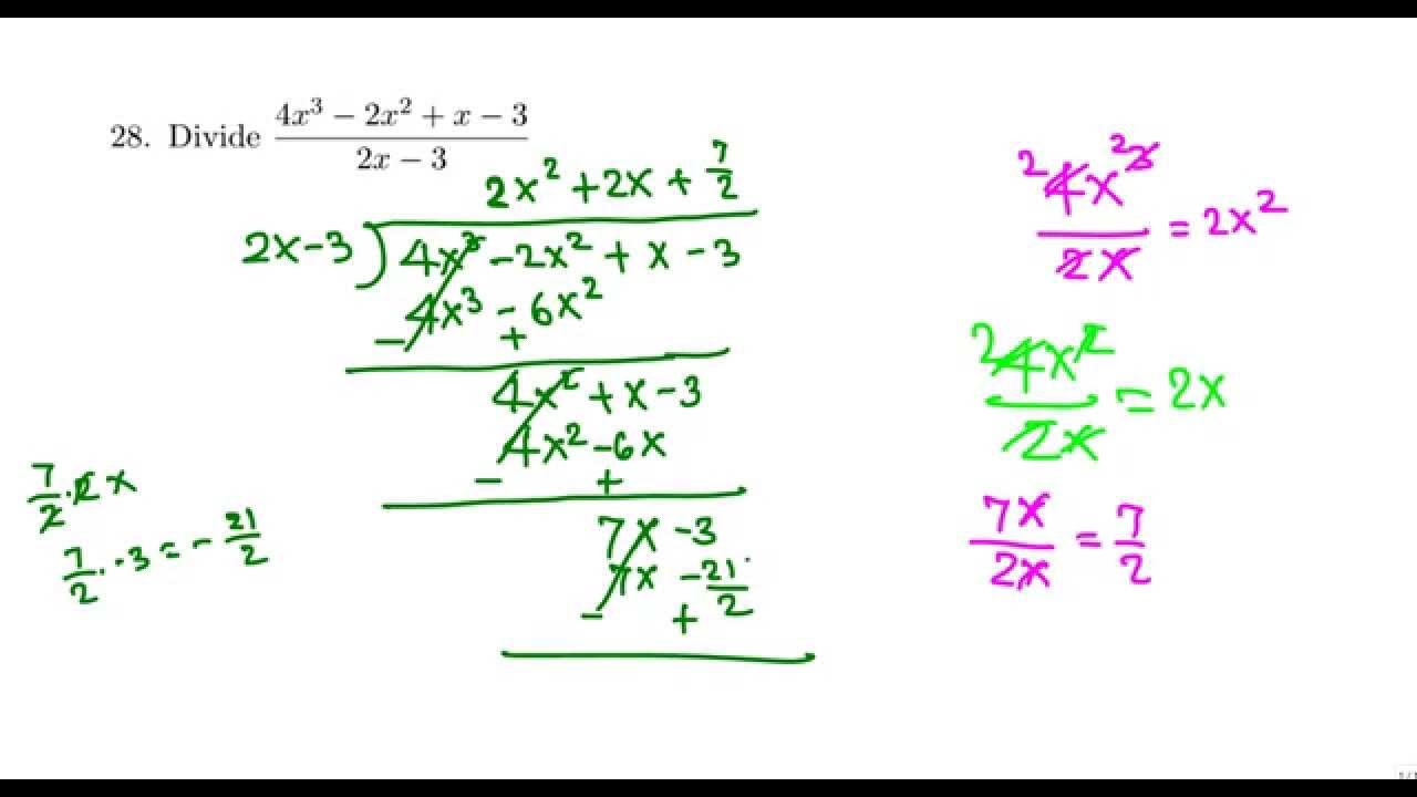 Long division (college algebra) - YouTube