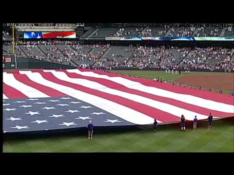 Colorado Symphony performs National Anthem at Coors Field
