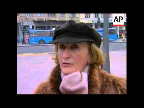 Serbs react to Kosovo president Rugova's death