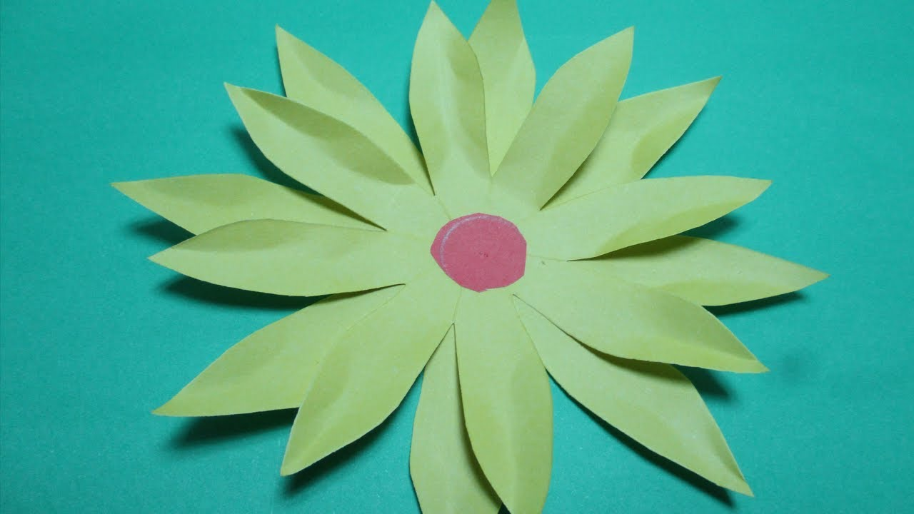 paper cutting designs/How to make paper cut out sunflower? paper cutting instructions step by step.
