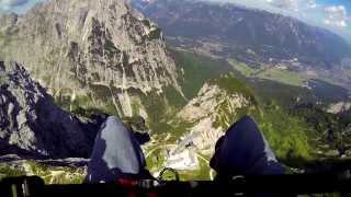 Gleitschirmflug in Garmisch-Partenkirchen HD 1080p (GoPro Hero3 Black)
