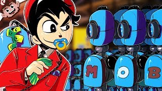 KILLER ROBOTS & BUTT SACRIFICES! | 12 Year Old Mob Boss! (Dumpster Dealers)