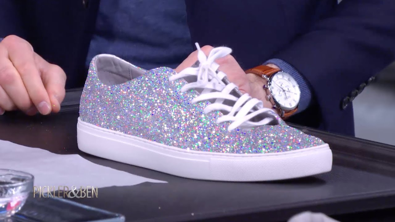 7894e23cf4f5 Make Your Shoes Sparkle with Glitter! - Pickler   Ben - YouTube