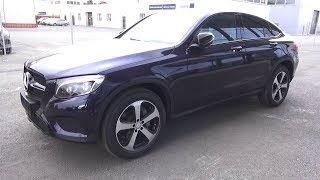2017 Mercedes-Benz GLC 220d 4Matic Coupe (C253).  Start Up, Engine, and In Depth Tour.