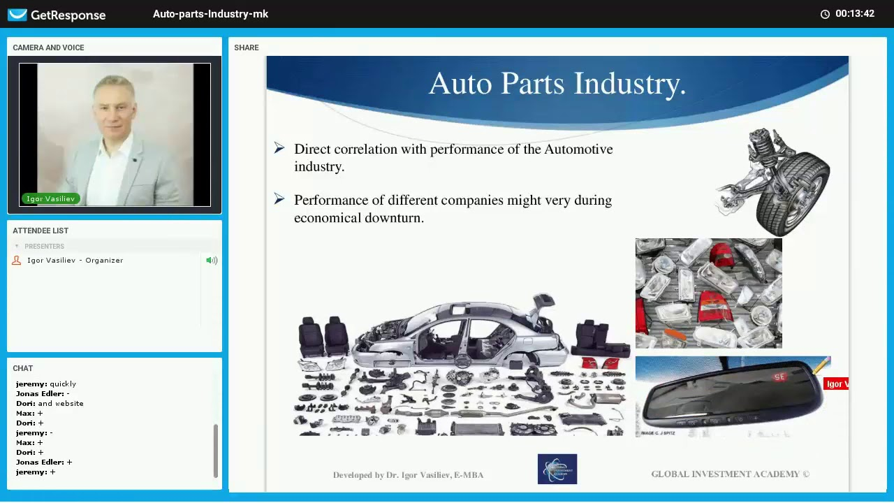 Auto Parts industry Part 2 Investment in Auto Parts companies