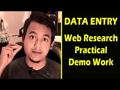 Data entry web research practical demo work