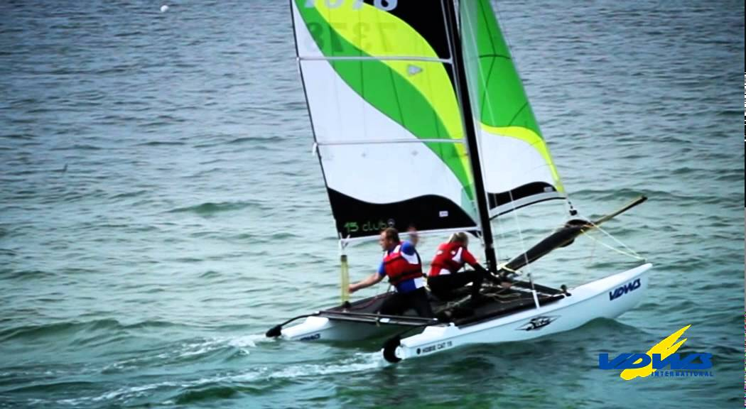 Foiling Catamaran A-Cat Regatta Ammersee Ammercat 2017 - YouTube