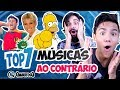 Músicas de Trás pra Frente que são ASSUSTADORAS! feat. Mamute Congelado | Top 7 | QMQ S03E16