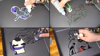 Anime Villains Pancake Art - Frieza, Cell, itachi, orochimaru