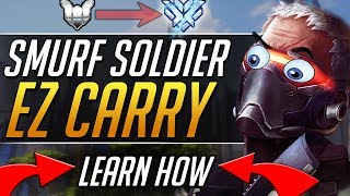 SOLDIER SMURF - Pro Soldier Tips Gameplay Guide   Overwatch Guide