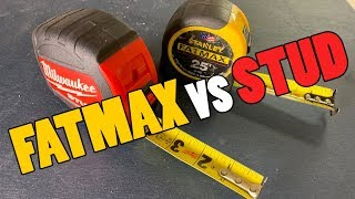 Milwaukee STUD vs Stanley FATMAX - Which Tape-Measure Is The Best?