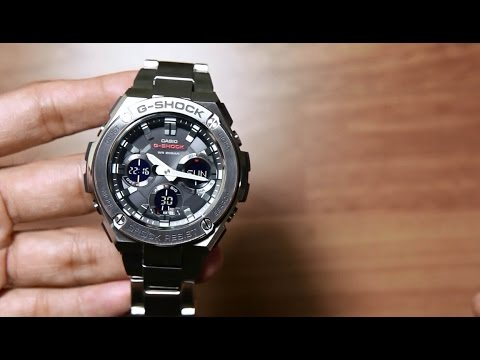 17a2bf02e8a Casio G-shock G-steel GST-S110D-1A   NEW layer guard structure - YouTube
