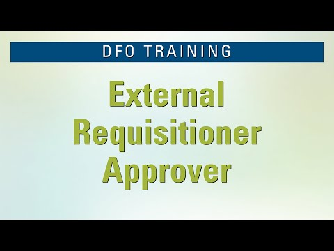 DFO External Requisitioner Approver