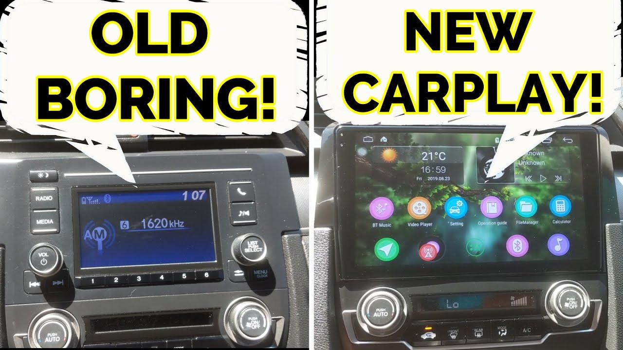 2016 2017 2018 2019 Honda Civic Android Auto Carplay Upgrade 9 Screen Install Instructions Youtube