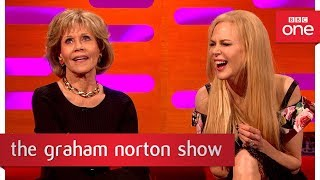 Jane Fonda's reunion with Robert Redford  - The Graham Norton Show: 2017 - BBC One