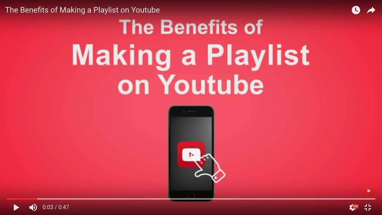 The Benefits of Making a Playlist on Youtube - YouTube