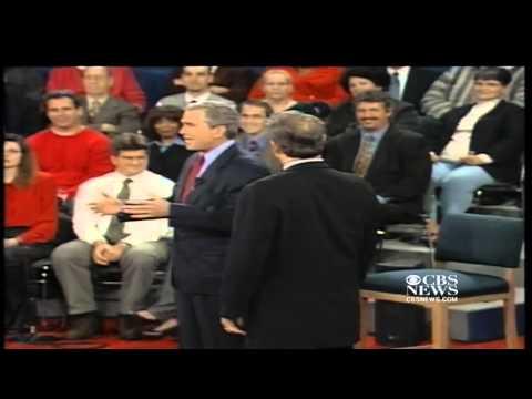 Famous debate moment  Gore intrudes Bush's personal space in 2000