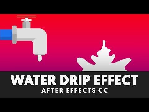 Liquid Drip & Splash - After Effects Tutorial (No Third Party Plugin) - T044
