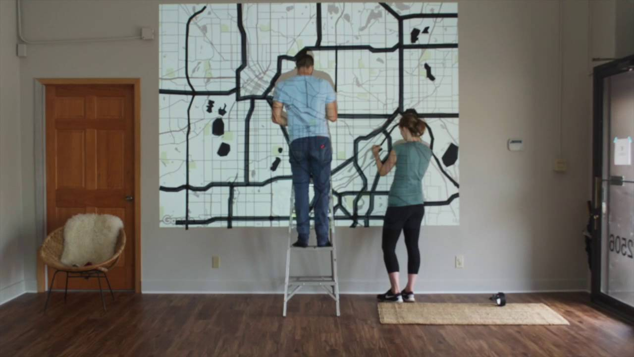 Diy Tape Map Wall Mural Timelapse