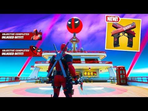 DEADPOOL SKIN OUT NOW! DEADPOOL WEEK 7 CHALLENGES! (Fortnite Deadpool Item Shop)