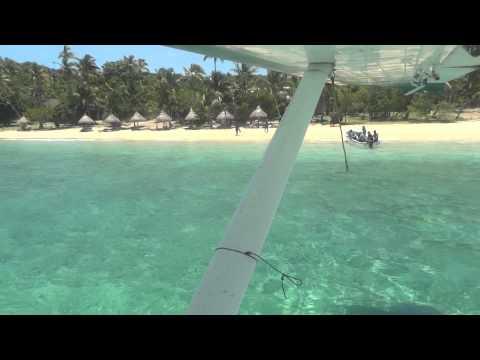 Landing at Paradise Cove, Yasawa Islands, Fiji
