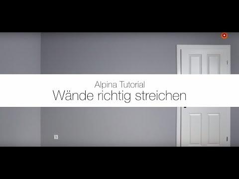 Wände richtig farbig streichen - Alpina Feine Farben Anwendungsvideo