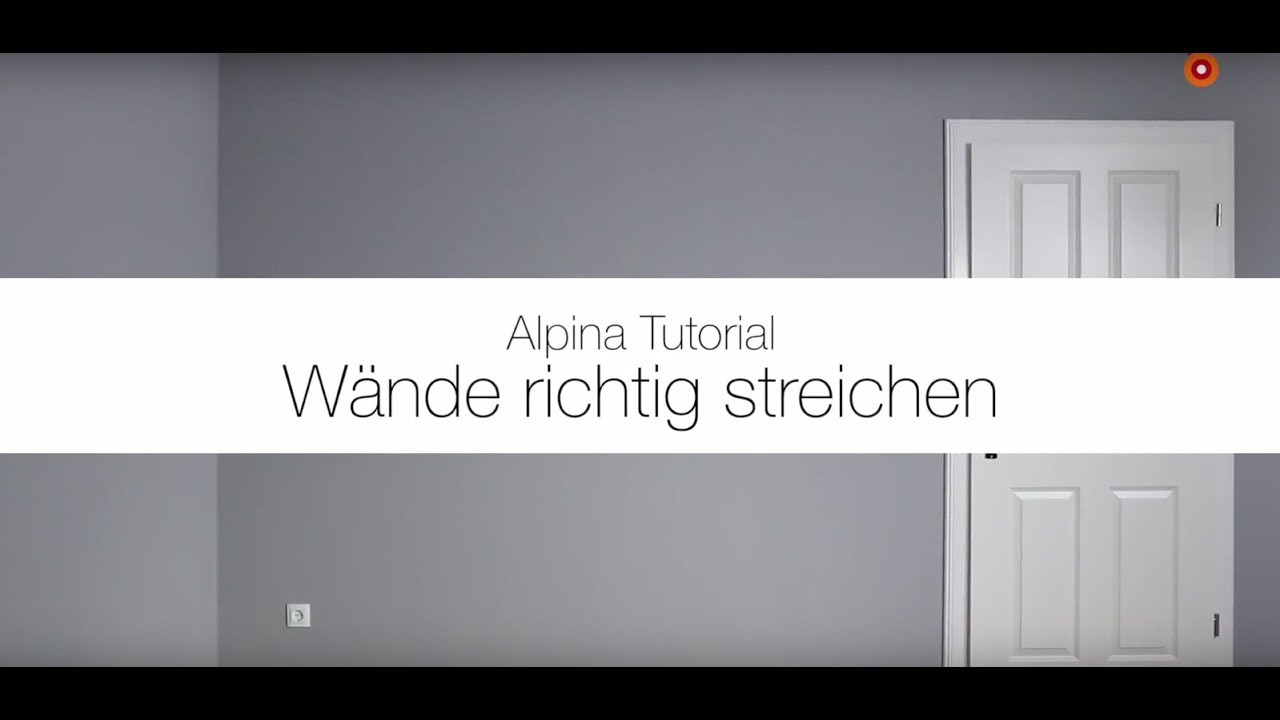 w nde richtig farbig streichen alpina feine farben anwendungsvideo youtube. Black Bedroom Furniture Sets. Home Design Ideas