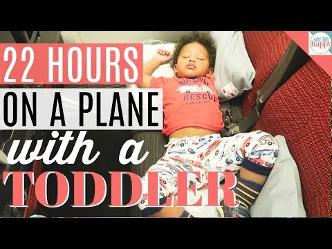 22 Hour Flight With a Toddler | Family Travel Vlog #14