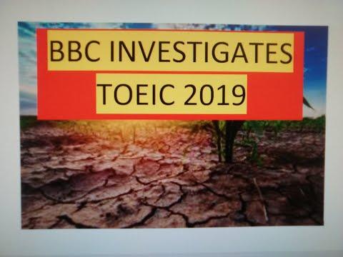 BBC Investigates TOEIC 2019 - Update