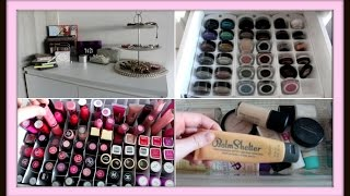 Makeup Collection And Storage Inspiration ♡ Arna Alayne ♡