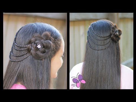 Hair style Braided Flower | Braided Hairstyle | Hairstyles for Girls thumbnail