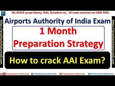 1 MONTH STRATEGY FOR AIRPORTS AUTHORITY OF INDIA EXAM || GIVE YOUR BEST ||