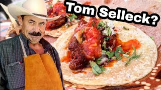 TOM SELLECK Selling TACOS In MEXICO!! - Tipping $100 Dollars - Mexican Street Food