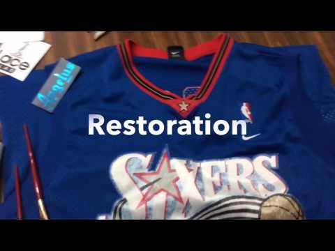 Using Angelus to restore  NBA jersey