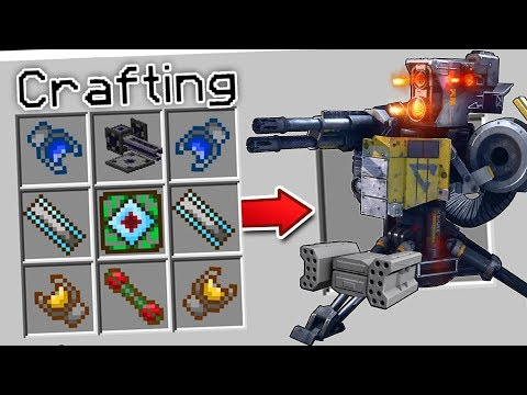 CRAFTING A WORKING TURRET IN MINECRAFT!
