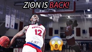 Zion Williamson Dunks & SCREAMS In First Game Back From INJURY!! Full Highlights 😱