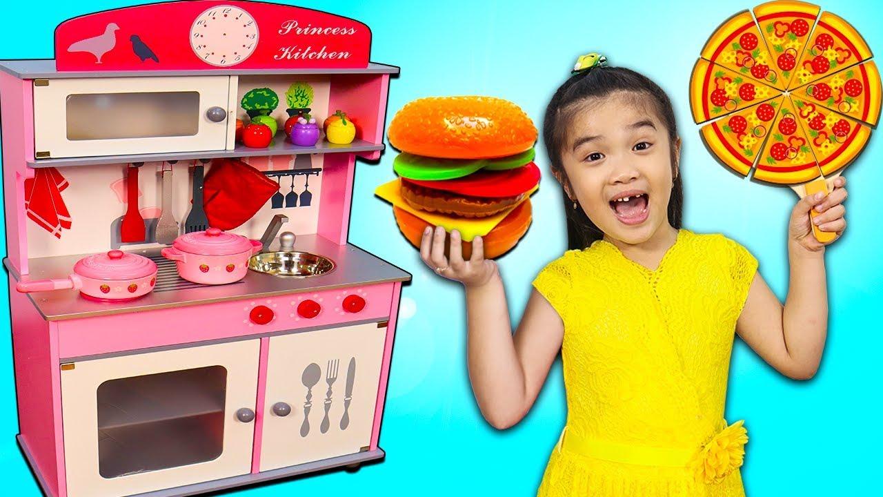 Hana Pretend Play Cooking W Princess Kitchen Amp Food Toys