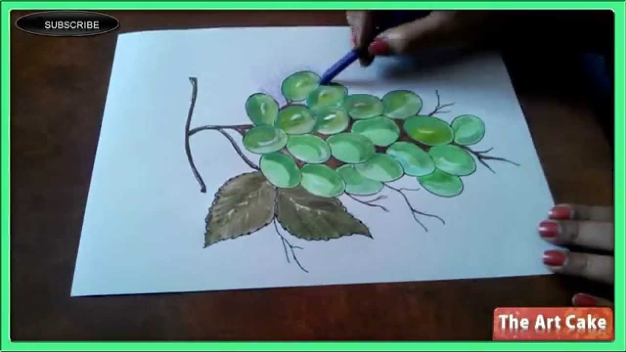 Realistic Grapes colouring Part 2 How to colour the Realistic Grapes ...