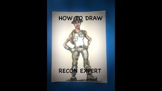How to draw the Recon Expert skin from Fortnite