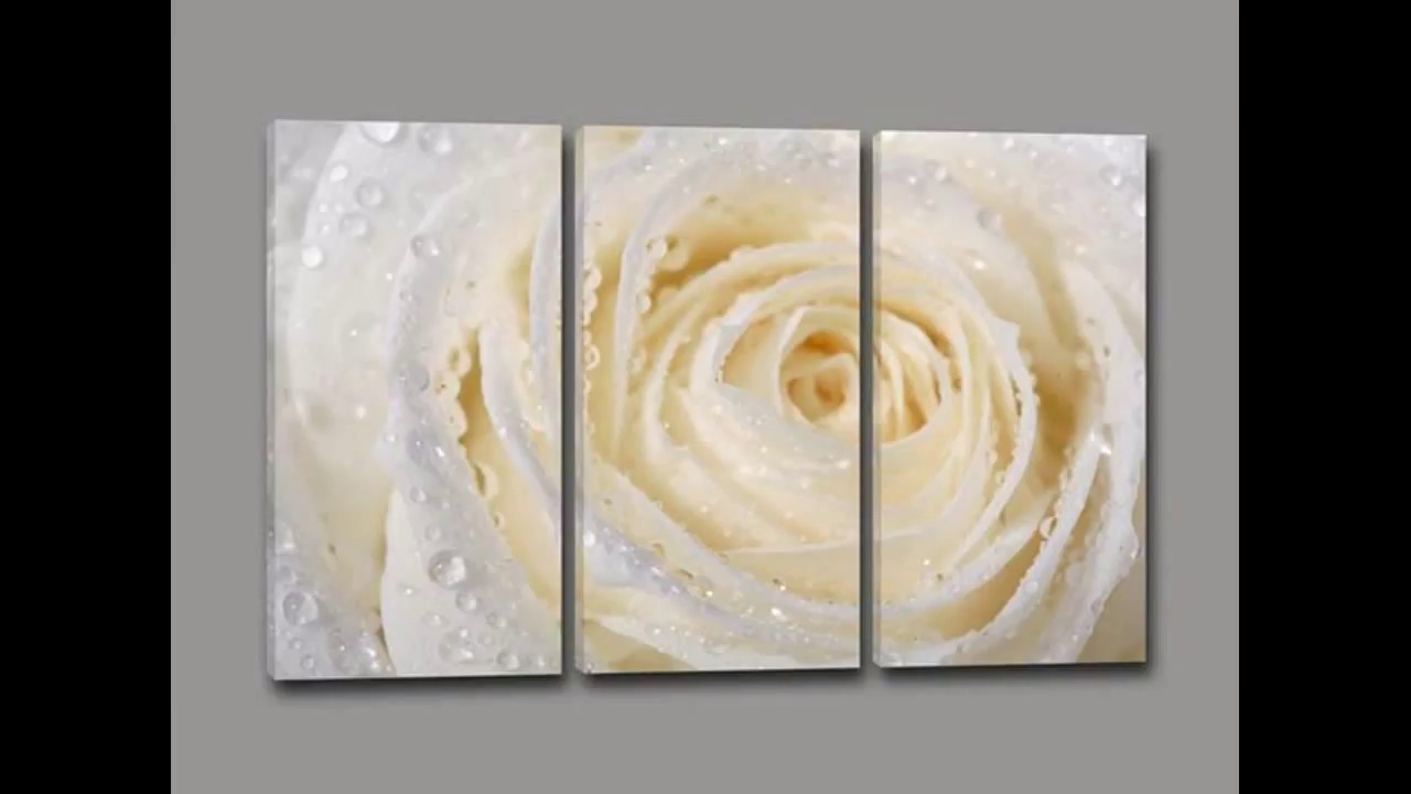 quadri moderni floreali di arredi murali youtube