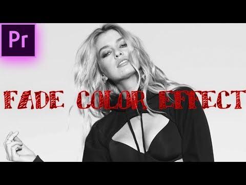 Adobe Premiere Pro: COLOR to Black & White Fade Effect (Justin Bieber 2U Video) (CC 2017 | Tutorial)